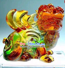 Chinese Classic Kai Guang Colored Glaze Pi Xiu (avoid bad and bring luck)