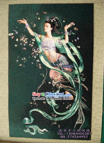 Supreme Chinese All Hand Embroidery Handicraft - Flying Fairy 2