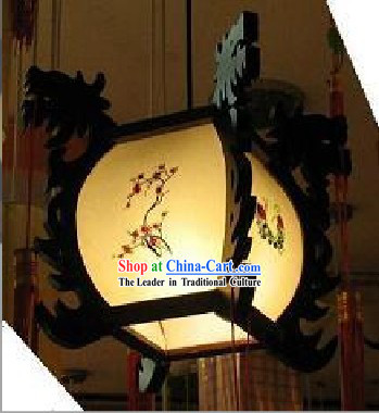 Chinese Hand Made Wood and Parchment Palace Ceiling Lantern