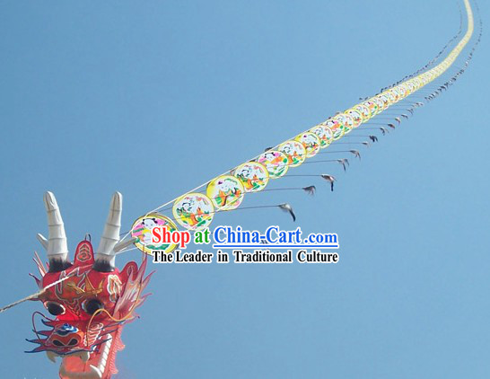 3937 Inches Supreme Super Large Chinese Hand Made and Painted Weifang Dragon Kite