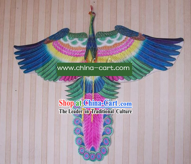 Chinese Traditional Weifang Hand Painted and Made Kite - Peacock King
