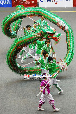 Top Quality Luminous Competition and Parade Dragon Dance Costumes Complete Set
