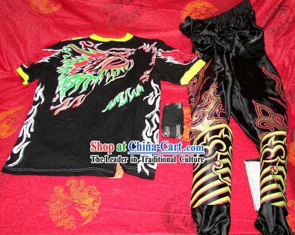 Professional Luminous Dragon Dance Costumes, Pants, Leg Coverings for Dancer _black_