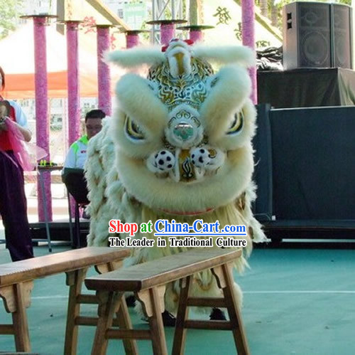 Supreme Long Wool Chinese Traditional Southern Lion Dance Costume Complete Set