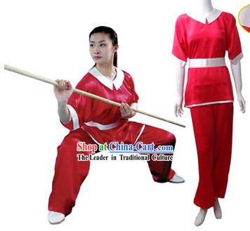 Chinese Traditional Martial Arts 100_ Silk Changquan Long Fist Uniform for Women