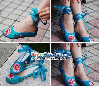 Chinese Traditional Handmade Lotus Shoes