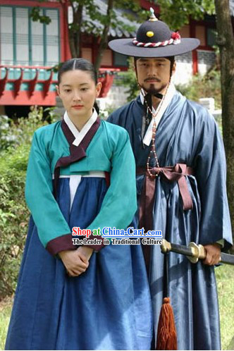 Ancient Korean Palace Costumes for Men and Women