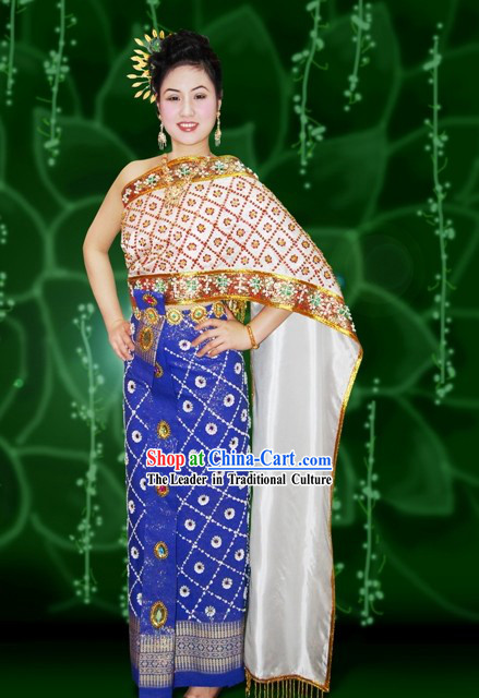 Traditional Thai Court Dress Costume Complete Set