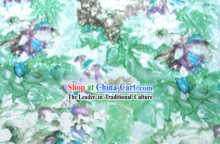 Chinese Water Lotus Silk Fabric