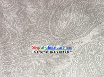 Chinese Classical Fu Rui Xiang Silk White Fabric