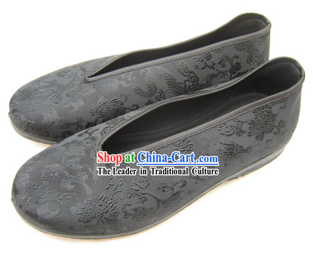 Chinese Traditional Brocade Shoes for Men _ Classic Dragon Shoes