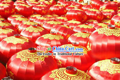 47 Inch Large Hanging Chinese Red Silk Lantern