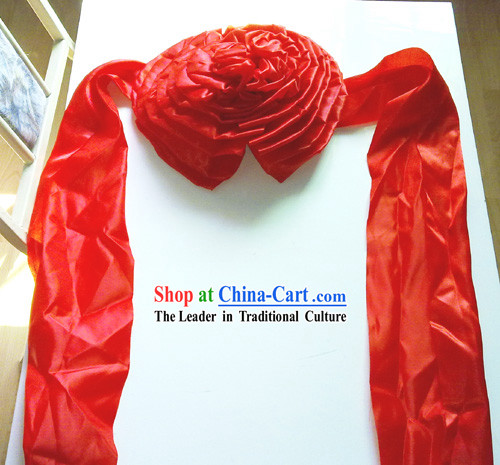 79 Inch Length Chinese Wedding Ceremony Lucky Red Flower