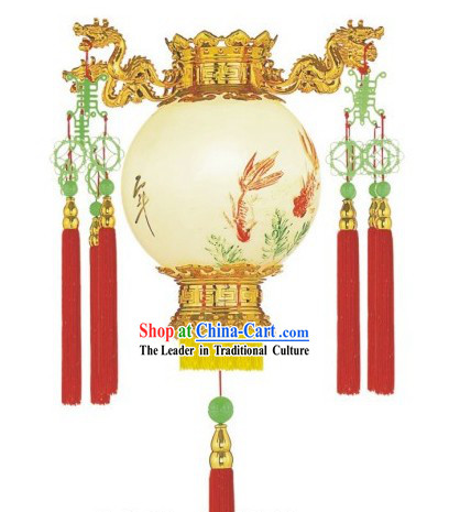 Chinese Traditional Steel Wire Dragon Palace Lantern