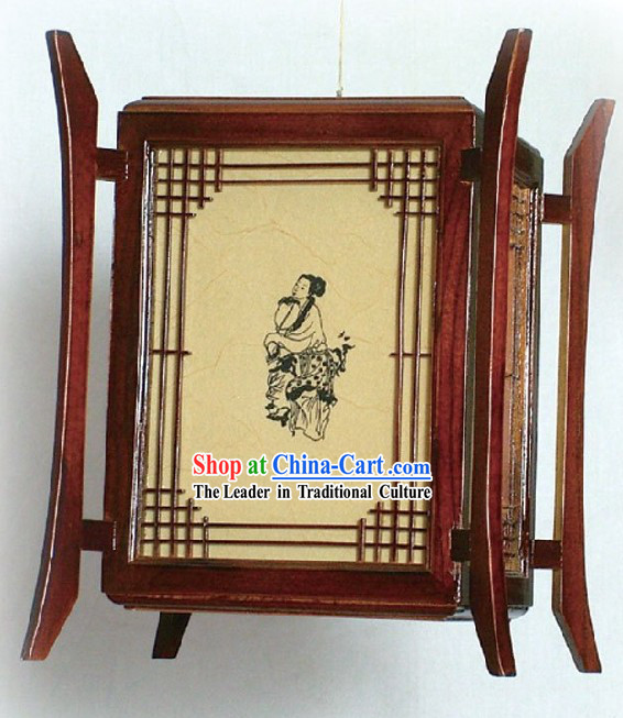 Chinese Classic Teahouse Wooden Lantern