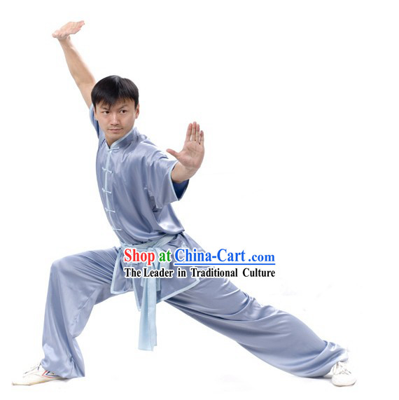 Chinese Professional Silk Wushu Uniform / Wushu Clothing