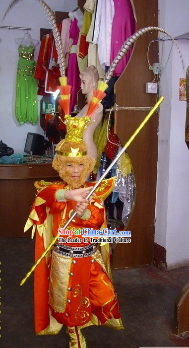 Hairy Monkey Sun / Monkey King Costume / Monkey Costume Set with Monkey Shoes