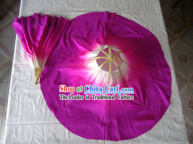 Professional 360 Degree Chinese Silk Dance Fan