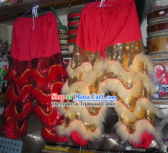 Professional Lion Dance Sheep Fur Pants and Claws Set (all colors and sizes can be custom made)