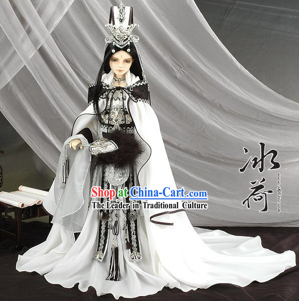 China Ancient Prince Clothing and Hat Complete Set