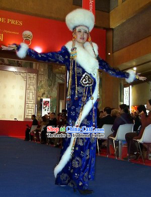 Chinese Classical Mongolian Costume Complete Set