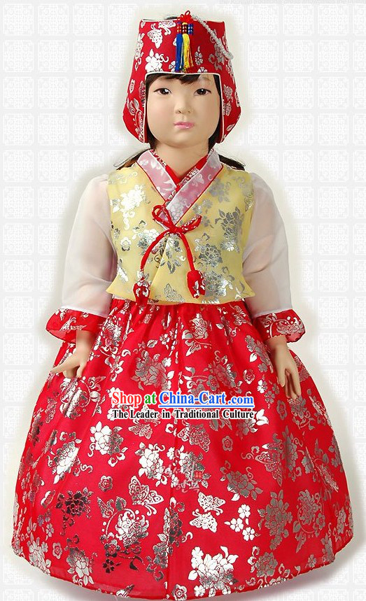 Traditional Korean Birthday Hanbok for Girls