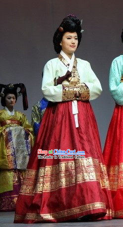 Ancient Korean Palace Hanbok Costume Complete Set