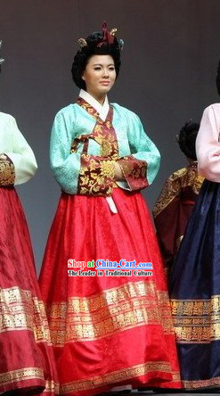 Ancient Korean Palace Hanbok Dress Complete Set