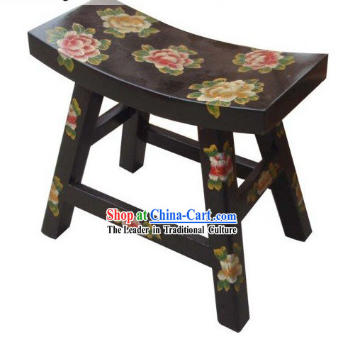 Chinese Tibetan Natural Wood Bar Chair