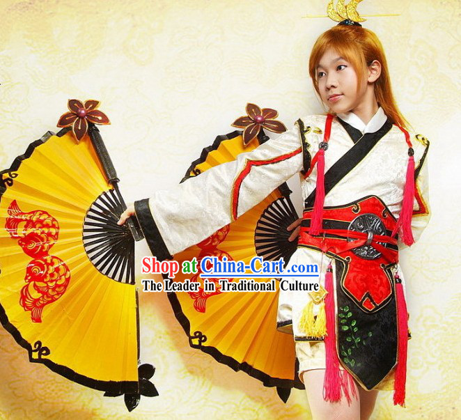 Ancient Chinese Fighter Cosplay Costume Set