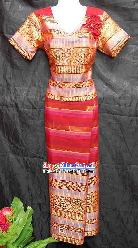 Thai Traditional Dress Traditional Thai Dance Costume Complete Set