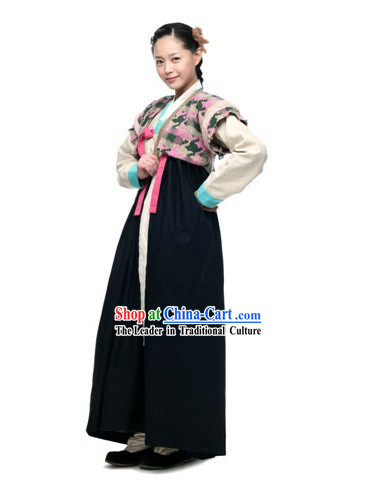 Ancient Korean Swordswoman Costume Set