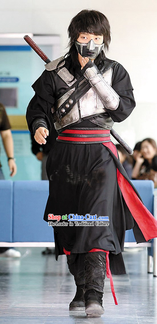 Ancient Korean Fighter Iljimae Armor Costumes Set
