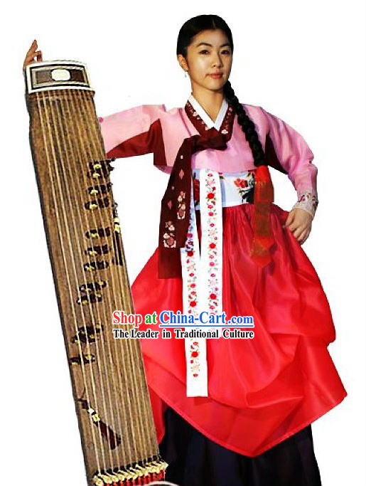 Traditional Korean Hanbok Female Clothing