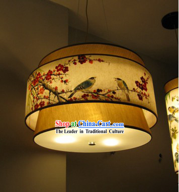 Chinese Traditional Original Plum Blossom Painting Chandelier