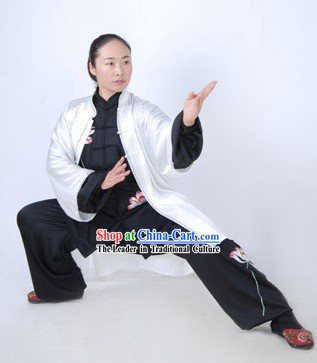 Chinese Kung Fu Master Silk Suits and Cape Set