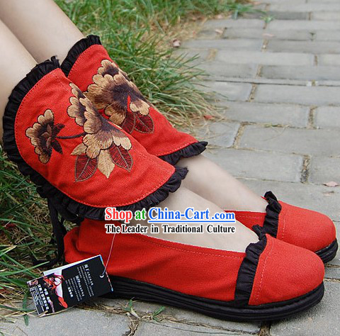 Hand Made Chinese Cloth Boots for Women