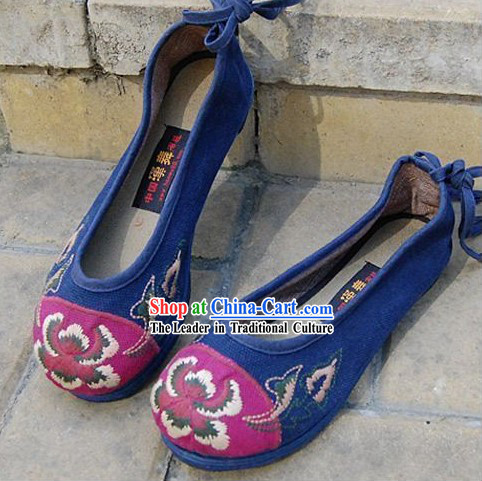 Traditional Chinese Embroidered Clothes Shoes