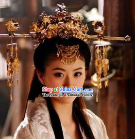 Handmade Tang Wedding Empress Phoenix Crown / Chinese Wedding Hat