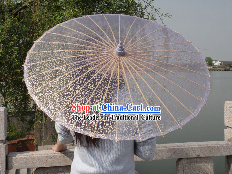 Chinese Handmade Transparent Silk Umbrella