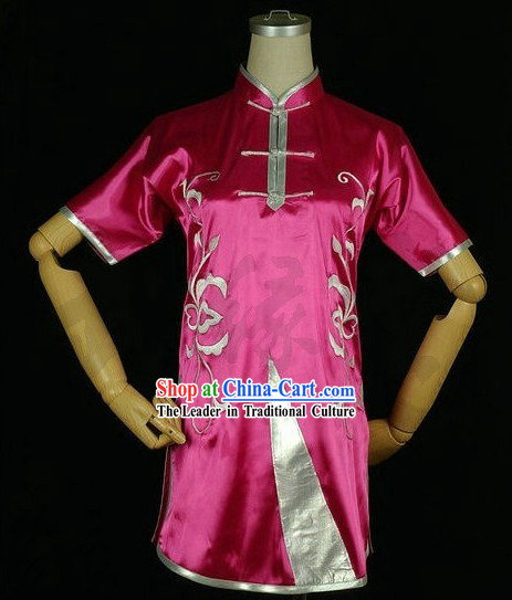 Chinese Embroidery Kung Fu Competition Uniform Complete Set