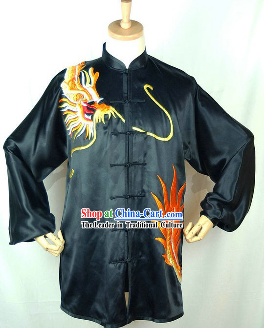 Chinese Dragon Embroidery Martial Arts Competition Uniform