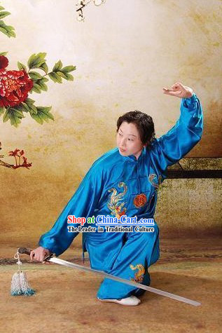 Double Phoenix Embroidery Kung Fu Dress Complete Set