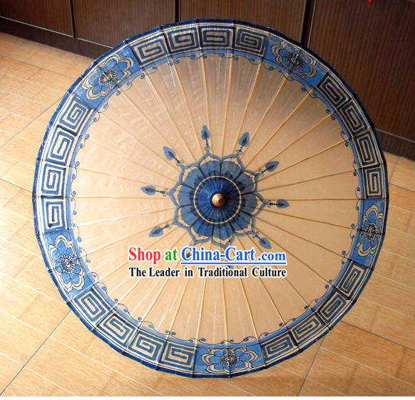 Chinese Classical Procelain Flower Umbrella