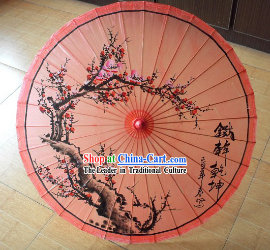 Traditional Chinese Plum Blossom Painted Umbrella