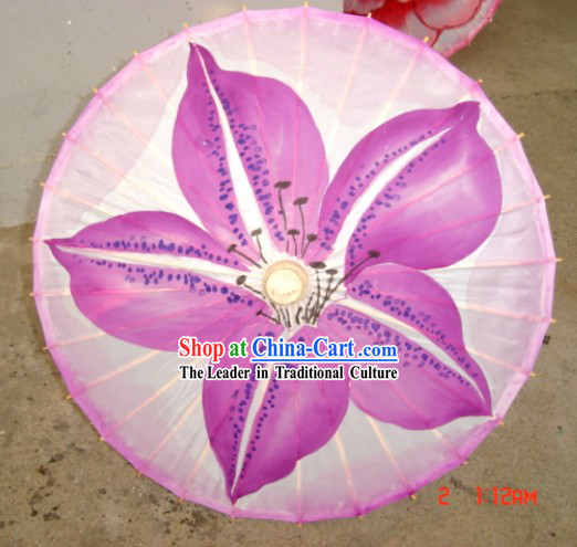 Chinese Traditional Silk Flower Dance Umbrella