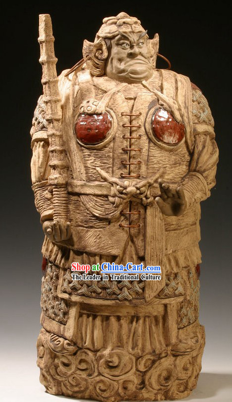 Chinese Classic Shiwan Ceramics Statue Arts Collection - Door God