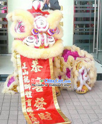 Traditional Kung Fu Martial Arts  Lion Dance Costume Complete Set