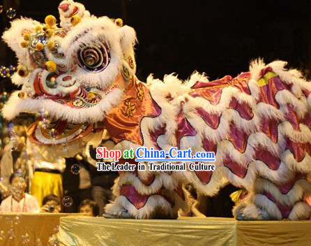 Traditional Festival Celebration Luminous Lion Dance Costume Complete Set