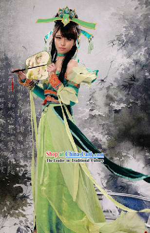 Ancient Chinese Fairy Cosplay and Headpiece